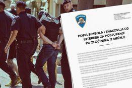 Policija ima tajni dokument po kojem hapsi, ne smijete znati što u njemu piše