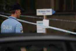 02.08.2019., Zagreb - Policija na Kajzerici i dan nakon visestrukog ubojstva patrolira ulicu i kucu ubijenih. Photo: Matija Habljak/PIXSELL